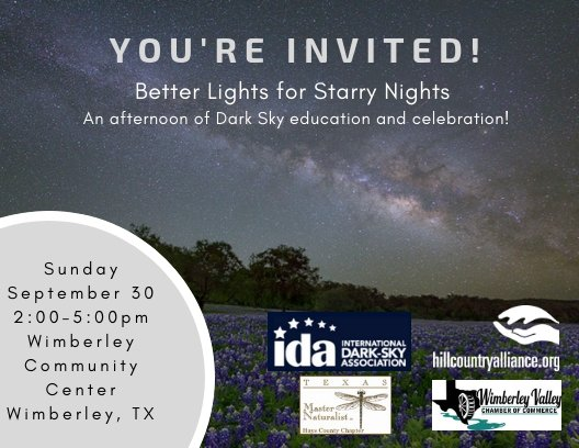 Better Lights for Starry Nights - Wimberley Valley Chamber