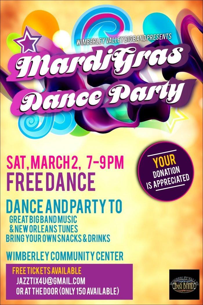 Mardi Gras Dance & Concert - Wimberley Valley Chamber of Commerce